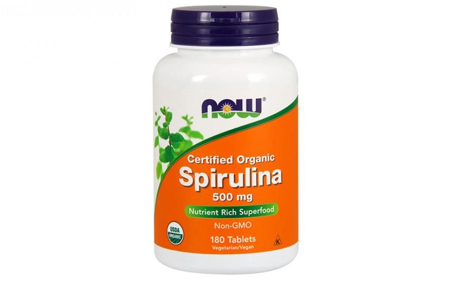 NOW Spirulina 500 мг - 180 таб
