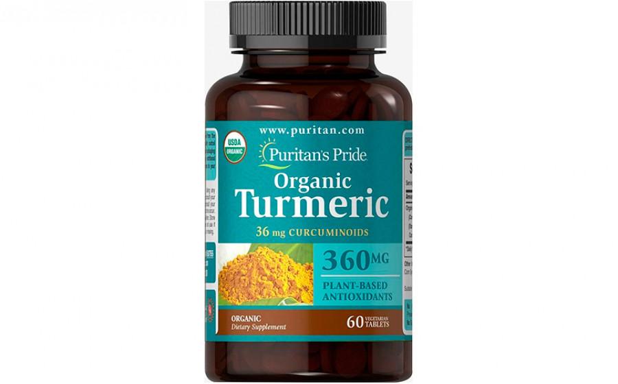 Puritan's Pride Organic Turmeric Curcumin  360 мг 60 таб