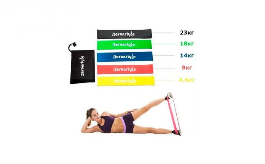 Комплект лент сопротивления из 5 шт Esonstyle для йоги, фитнеса,