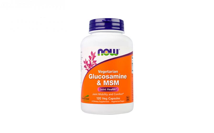NOW Vegetarian Glucosamine MSM 120 veg caps