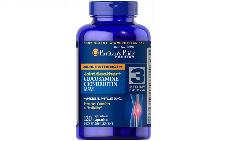 Puritan's Pride Double Strength Glucosamine Chondroitin - 120 та