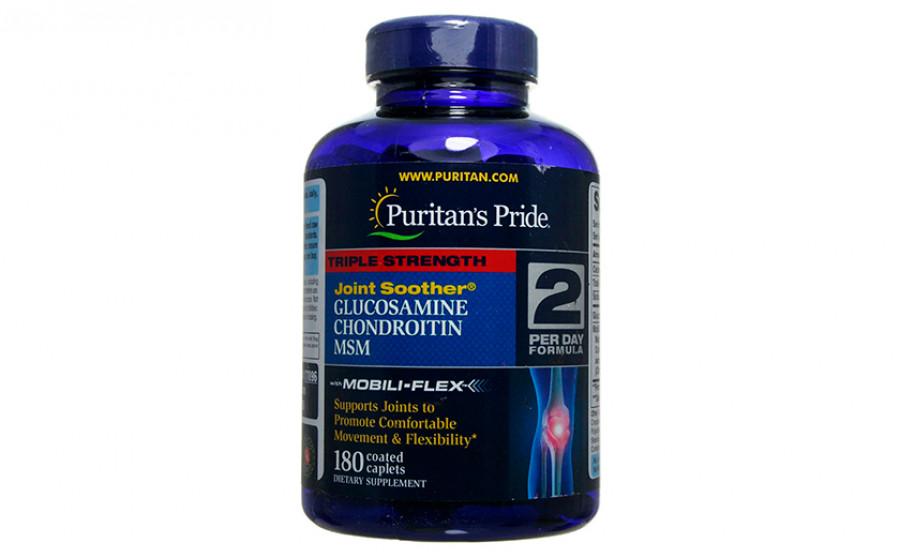 Puritan's Pride Triple Strength Glucosamine Chondroitin MSM 180
