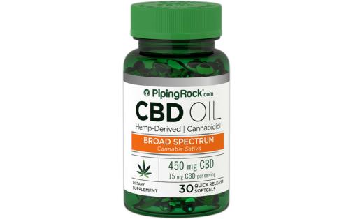 PipingRock CBD Oil 450 mg 30 caps