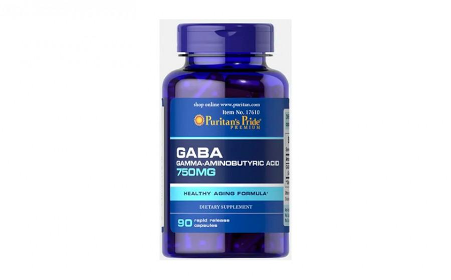 Puritan's Pride GABA 750 мг 90 капс