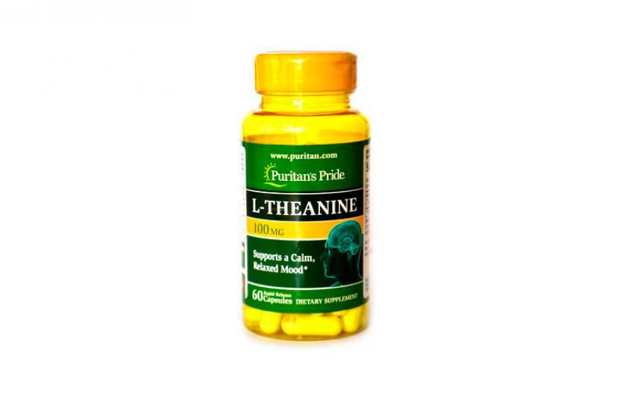 Puritan's Pride L-Theanine 100 мг 60 капс