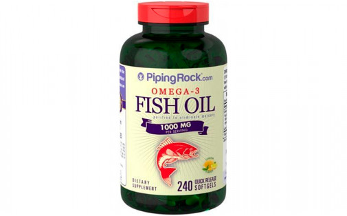 PipingRock Fish Oil Omega-3 300 mg 240 caps