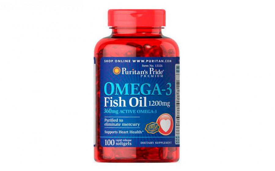 Puritan's Pride Omega-3 360 mg 100 caps