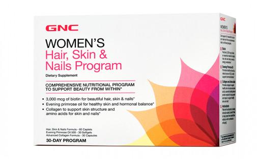 GNC Womens Hair, Skin & Nails Program, 30-Day Program