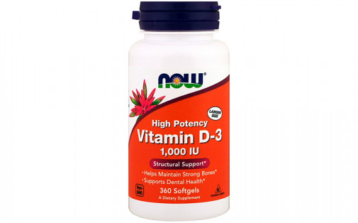 NOW Vitamin D-3 1000 IU - 360  капс