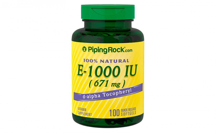 PipingRock E-1000 IU (671мг) 100 капс