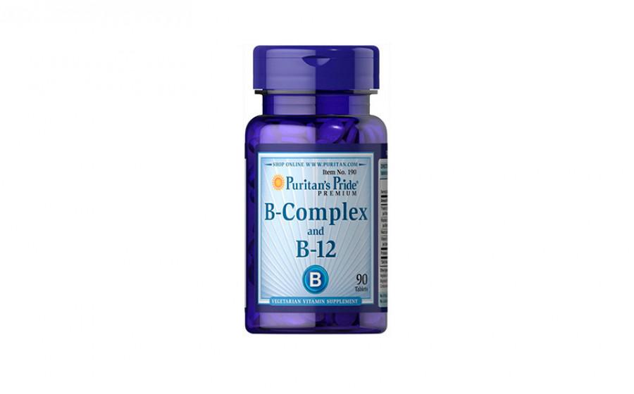 Puritan's Pride B-Complex + B-12 (90 таб)