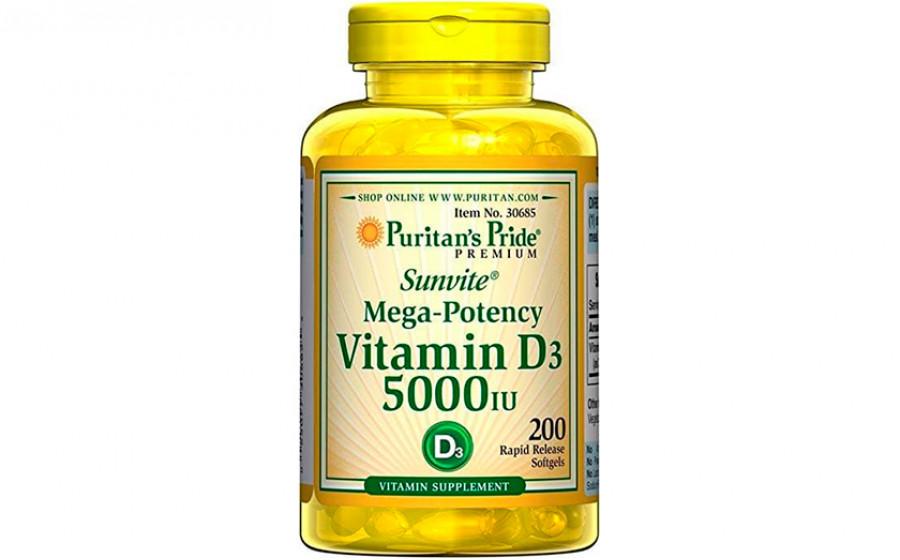 Puritan's Pride vitamin d3 5000 iu 200 капс