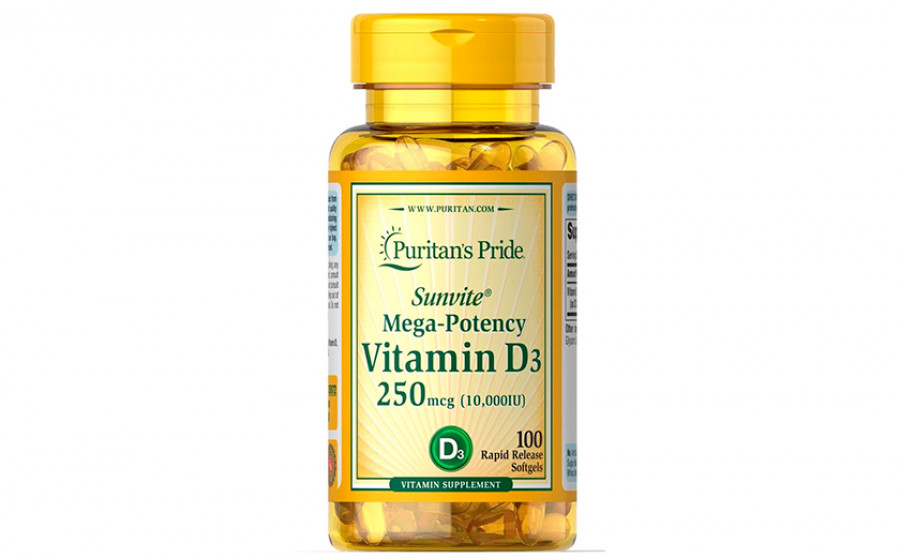 Puritan's Pride vitamin d3 10000 iu 100 капс